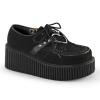 CREEPER-206 Black Vegan Suede - Vegan Leather